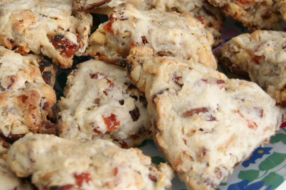 Apricot, White Chocolate, and Pecan Scones