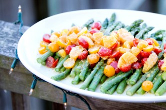 Asparagus Salad with Oranges and Tomatoes