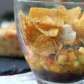 layered mango pineapple salsa salad