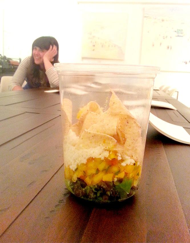 layered mango pineapple salsa salad