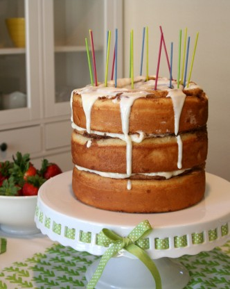 Cinnamon Roll Breakfast Birthday Cake
