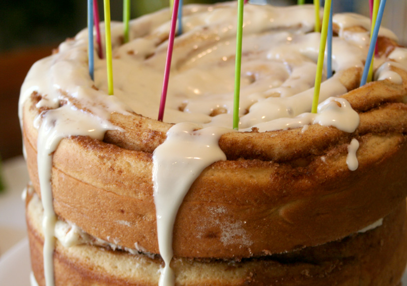 Cinnamon Roll Breakfast Birthday Cake Bakin Bit