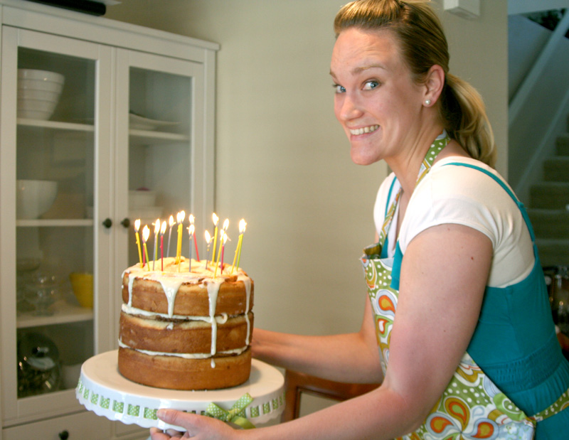 Cinnamon Roll Breakfast Birthday Cake