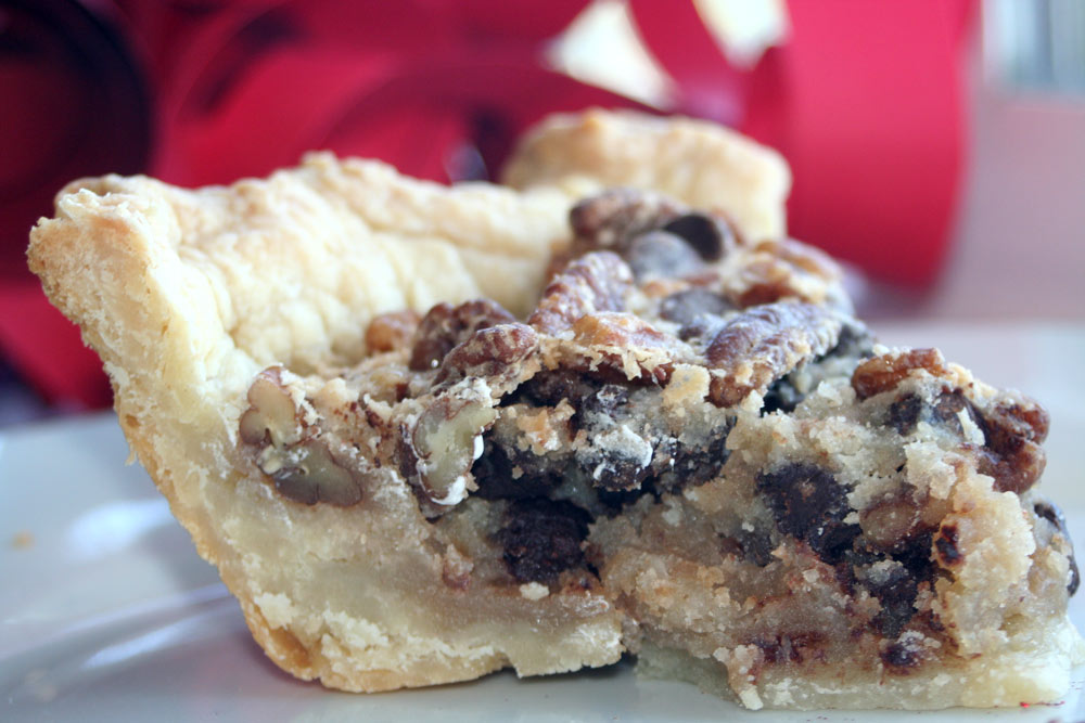 Derby-style Chocolate Pecan Marizipan Pie