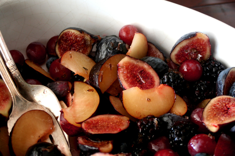Marie's All Purple Fruit Salad with Honey Lavender Syrup