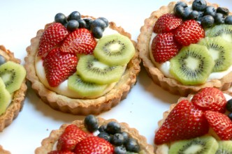 Lemon Cream Cheese Fruit Tarts