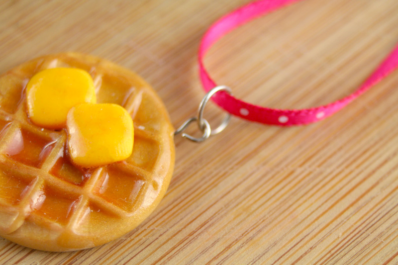 DIY Leslie Knope Waffle Necklaces