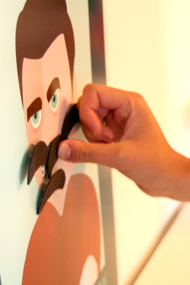 Pin the Mustache on Ron Swanson Game