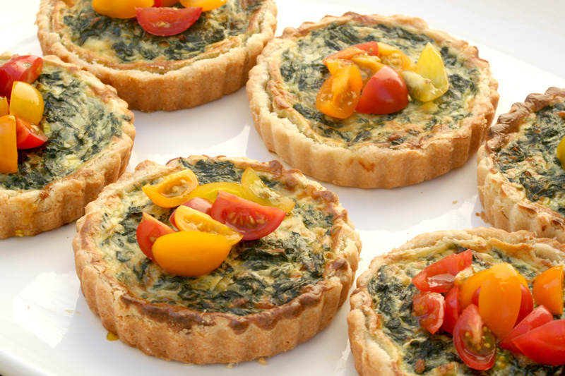 Spinach Gruyere Quiche