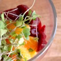 Goat Cheese Mousse with Beets and Oranges