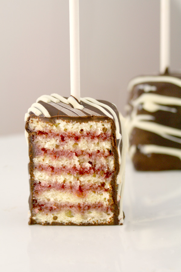 Layer Cake Pops (or Petit Fours on a Stick) Step-by-Step Instructions