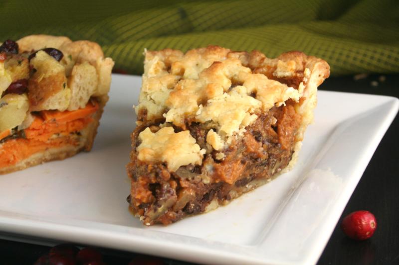 All-Pie Thanksgiving: Pumpkin Pecan Chocolate Pie