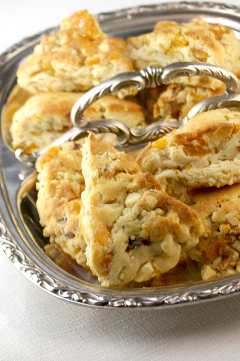 scones- packed with luscious chunks of white chocolate, dried apricots ...