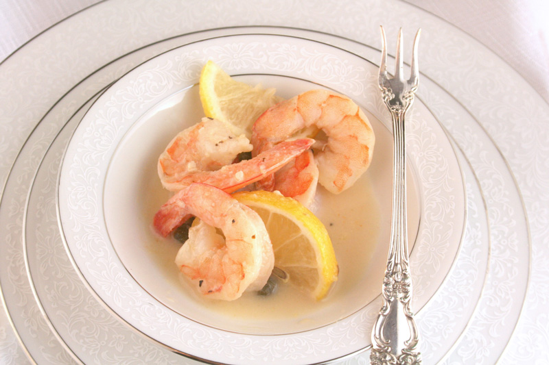 Lemon Caper Shrimp