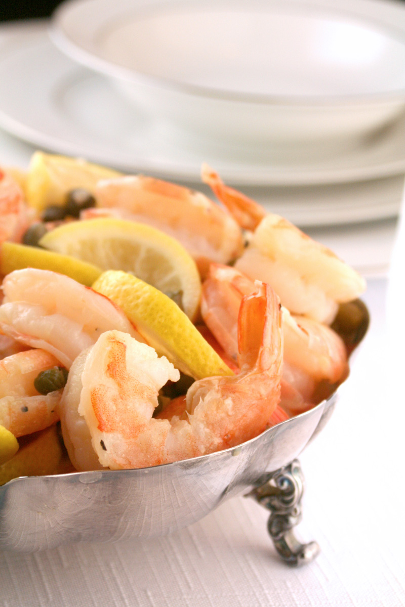 Lemon Caper Shrimp
