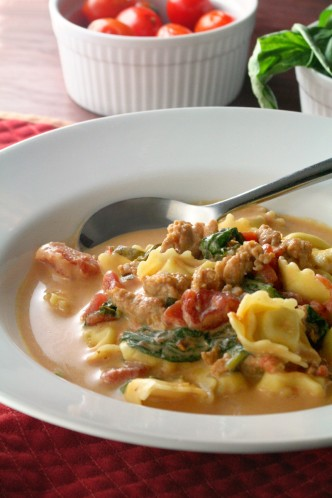 Hearty Tortellini and Italian Sausage Soup