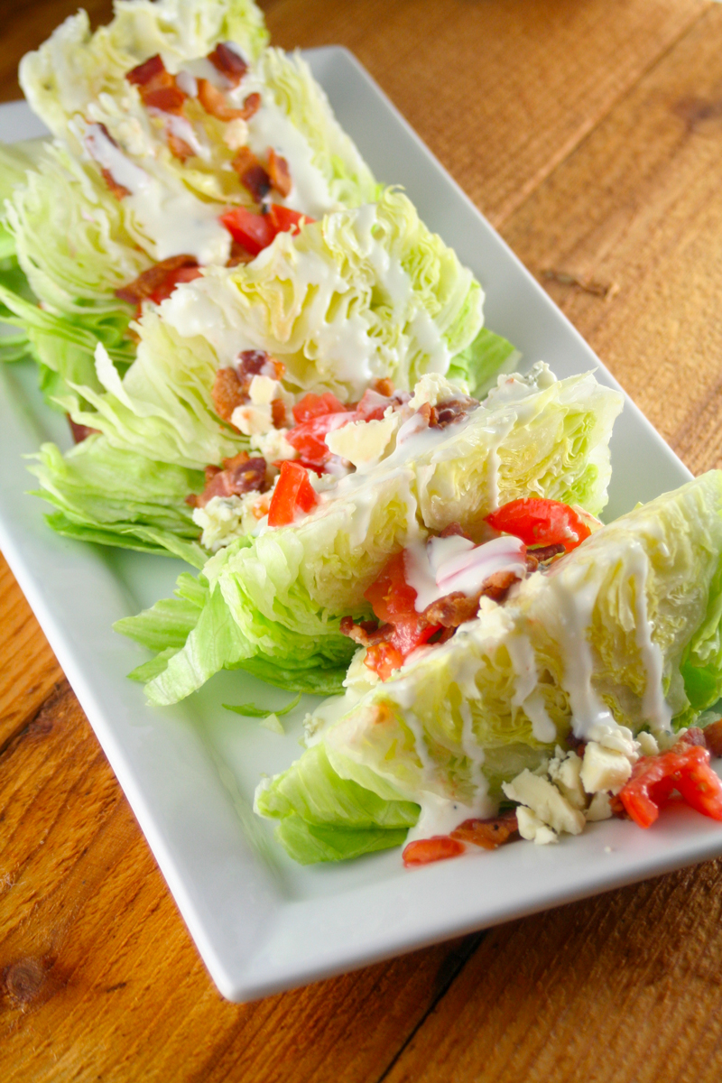 Wedge Salads with Blue Cheese and Bacon