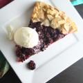 Blackberry Galette with Lemon Ice Cream