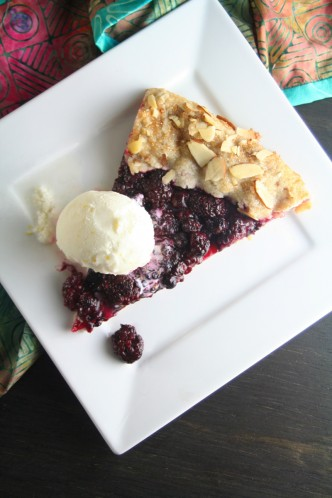 Blackberry Galette with Lemon Ice Cream