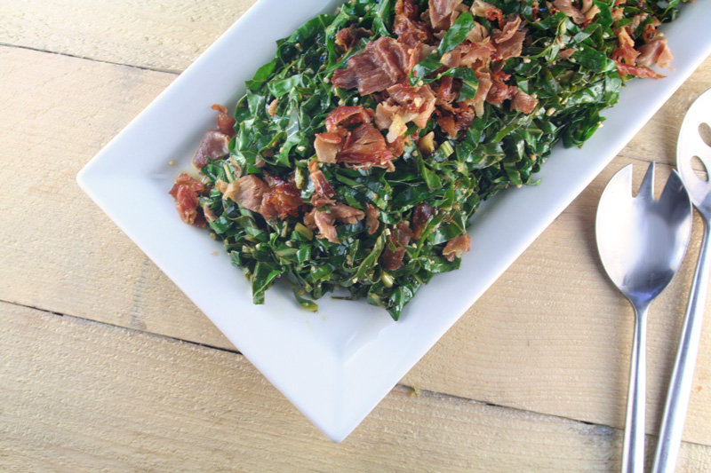 Garlic Collard Greens with Bacon