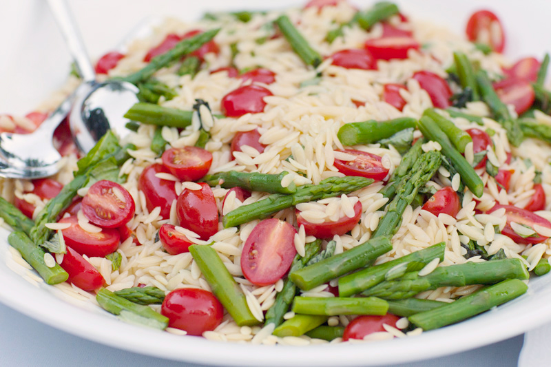 Lemon Basil Orzo Salad with Fresh Asparagus and Tomatoes. See, I don ...