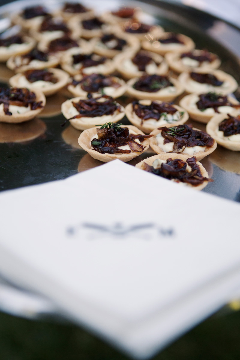 Goat Cheese Thyme Tartlets with Balsamic Glazed Caremelized Onions