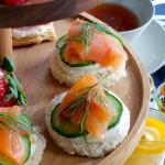 Salmon and Cucumber Tea Sandwiches