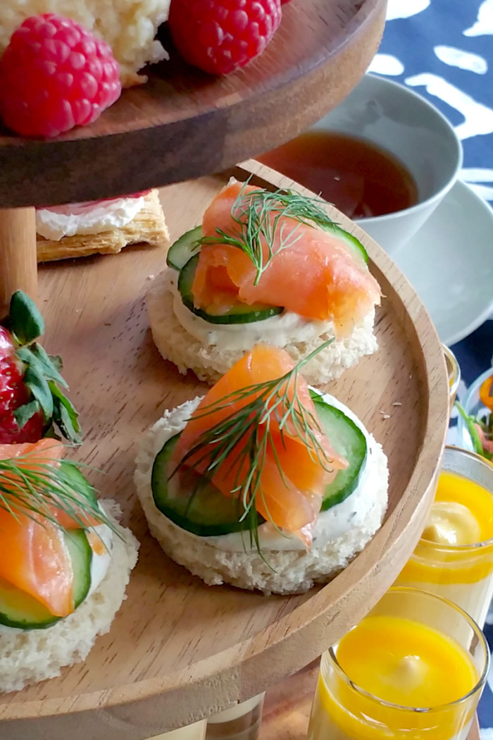 Salmon and Cucumber Tea Sandwiches